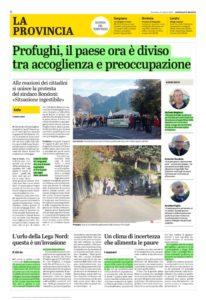 Anfo Profughi Giornale di Brescia